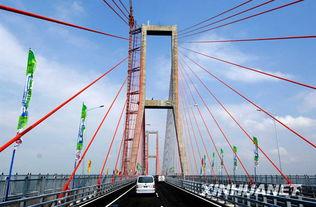 大桥,也是中国公司在海外承建的最大的现代化斜拉桥项目.新华