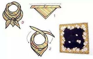 简单易学的男士方巾系法图解
