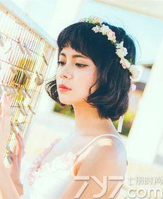 短发婚纱照发型图片 短发拍婚纱照竟这么美
