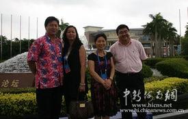 ...摄 -境外华文媒体高层感叹琼海博鳌水城 人间天堂