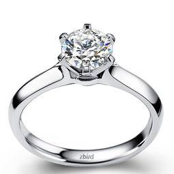 钻石小鸟 北极光系列 凝色铂金钻戒