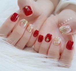 红色系美甲图片 显温柔更显时尚感