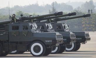 阅兵场上的中国SH-1车载炮突击炮.-盘点缅甸陆海空三军战力 武器基...