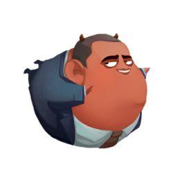 动漫胖子-钢铁侠歪脖卡通头像