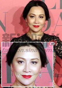 色撸撸淫姨-刘嘉玲,深红色的唇膏很少人会轻易尝试,但是这种色系就很适合熟龄...