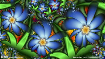 动感花朵图片