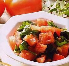 红蕃茄hk16-红番茄醋拌嫩海带-炎夏做道清新爽口凉菜