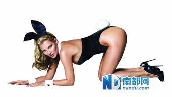 《花花公子》邀得莫斯为其拍摄创刊60周年封面大片.-凯特 莫斯女人