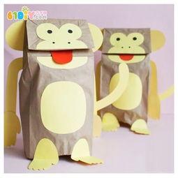 猴子纸袋手偶