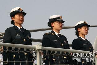 ...上随航的三名女军人 中广网军事记者  摄 -海军第三批护航编队载誉而...