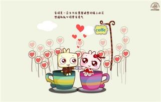 可爱萌萌哒卡通情侣图片
