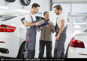 汽车修理厂的汽车修理工