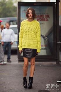 婷婷桃色网-黄色毛衣配黑色皮裙-刘诗诗高圆圆都爱的黄毛衣你入了吗