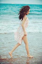 ...张俪海滩写真 唯美清纯可人
