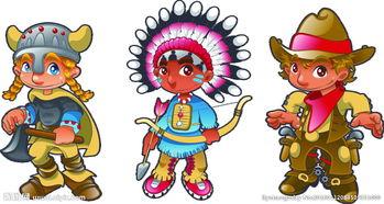 卡通人物印第安人图片