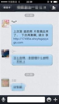 图1:群聊现盗号钓鱼网址 警惕性低的手机用户容易点击-QQ被盗殃及...