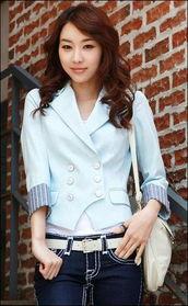扣阴蒂15p-清新大方,经典的双排扣设计,百搭又很显气质,适合任何风格的女生...