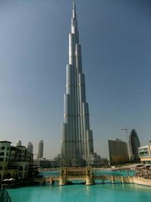 迪拜哈利法塔,楼高828米,共163层,2010年建成.-全球最惊人摩天...
