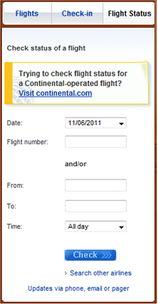 查询航班状况 移动设备的简单交互设计