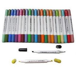 法卡勒水性 马克笔 24色套装 纸盒 装 水性墨水 中