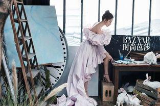 身丛林精灵,与兔子们同框,美艳又性感.   刘亦菲最新杂志封面大片...