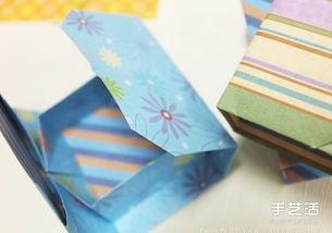 简单折纸礼物盒图解 长方形礼品盒的折法