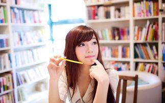 图书馆的美女壁纸 一