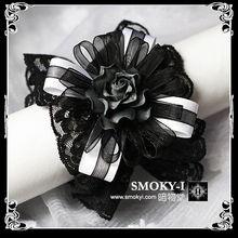 暗物堂 凋零的玫瑰 lolita蕾丝手链松紧腕饰 新版新色