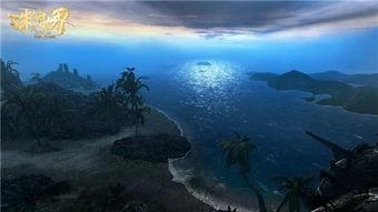 星辰神座-夜色茫茫,皎月当空,星辉倾洒于海面,印射出点点光芒.幻镜引擎基...