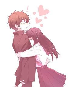 动漫温馨拥抱