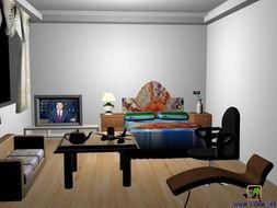 标题 新手根着视频画的房间效果图