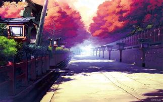街道唯美动漫场景图片壁纸