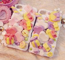 日系萌物DIY可爱奶油蛋糕仿真马卡龙iphone4 4s手机壳