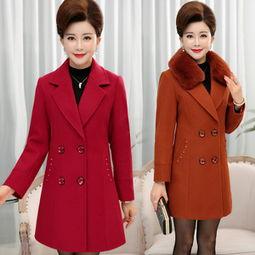 ...40-50岁中老年人外套女服装冬装妮子风衣-中老年服装女装价格,中...