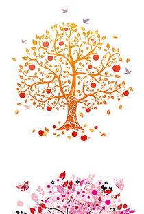 创意手绘卡通树木花树矢量素材-矢量树木素材图 矢量树木素材下载 矢...