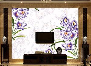 电视客厅沙发背景墙瓷砖背景墙花样诗情