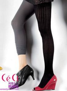 袜.   黑色丝袜 + 抢眼的粉红;高跟鞋16万8千韩元   灰色   丝袜   + 黄...