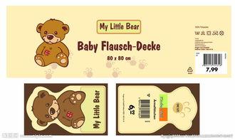 小熊吊牌卡纸图片