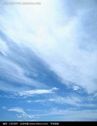 蓝天中虚无缥缈的白云图片 1361689 自然风景