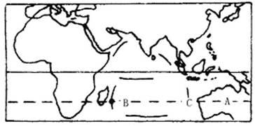 ...纬线气温和降水变化曲线图 读图,回答1 3题 1.该大陆是 A.非洲大陆 ...