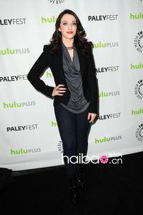 凯特·戴琳斯 (Kat Dennings) 亮相2013年PaleyFest电视节美剧《2 ...