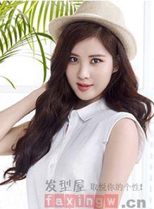 韩式发型女卷发中长发