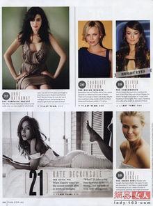 第21名:凯特·贝金赛尔英国女演员.1973年7月26日出身于演艺世...