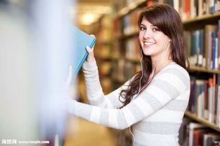 图书馆拿书本的女大学生图片素材 图片ID 746302 欧美美女 人物图片