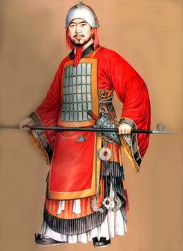 以鱼鳞或柳叶状的小甲片在用丝线或皮绳串接联缀而成   秦朝的将军...