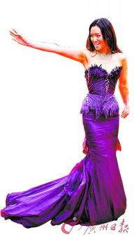 卡尔文与九色仙藻-神秘、高贵、性感   巩俐地位无法动摇   巩俐当晚身着一件Cavalli的紫...