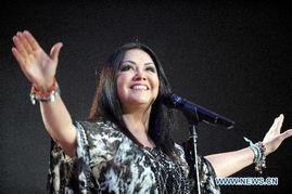 Pop queen of Mexico Ana Gabriel performs in Santiago