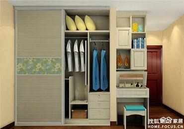 ...柜,再用玻璃门隔断开来,就变成了美美的衣帽间 -原来衣柜还可以...