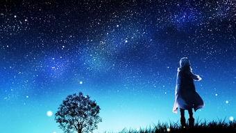 夜空-二次元背景图星空