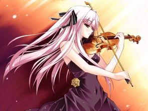 急求 拉小提琴的动漫女生图片